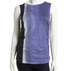 Elie Tahari Jersey Tank • Purple orchid ombre jersey. • Scoop neckline. • Lightly ruched down sides. • Long, eased fit. • 100% Cotton.  • SOLD OUT in stores ⚡️no trades & no paypal⚡️  → If you have an offer please use the offer button! Elie Tahari Tops Tank Tops