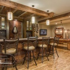 New Rustic Finished Basement Ideas