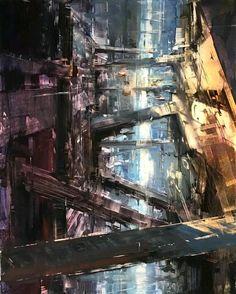 """""""Canyon""""  https://www.artstation.com/p/Qkmzr Bryan Mark Taylor Gallery Artist -- Share via Artstation Android App, Artstation © 2017"""