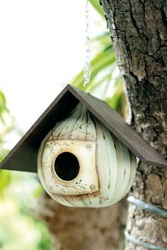 How to make a gourd birdhouse - beautiful design and paint technique