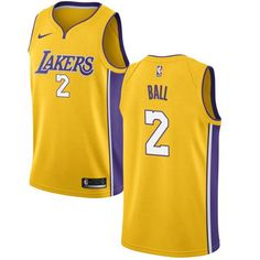 Nike Lakers  2 Lonzo Ball Gold Stitched NBA Swingman Jersey I Love  Basketball b4359be5d