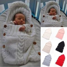 baby sleeping bag on sale at reasonable prices, buy Sleeping Bag Baby Footmuff Knitted Saco De Dormir Bebe Winter Hooded Solid Soft Wool Crochet Baby Sleeping Bag for Newborns Baby from mobile site on Aliexpress Now! Baby Knitting Patterns, Crochet Patterns, Blanket Patterns, Cute Baby Sleeping, Kids Sleeping Bags, Cute Babies, So Cute Baby, I Want A Baby, Crochet Bebe