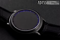 ABYSS Japanese Inspired Blue LED Touchscreen Watch