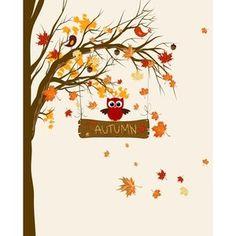 Secretly Designed Autumn Leaves Art Print