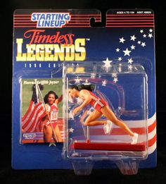 FLORENCE GRIFFITH JOYNER / USA OLYMPIC TRACK AND FIELD * 1996 TIMELESS LEGENDS Kenner Starting Lineup & Exclusive Collector Trading Card Starting Line Up.