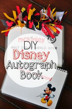 DIY Disney Autograph Book by Melissa Hillier, via Flickr