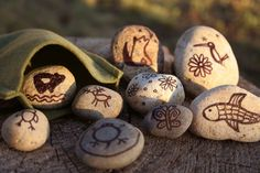 "Native American Empowerment Pebbles - ""Children need to be together in nature, so they can learn to respect, accept and understand each other better. Native American Indians have something important to teach about respect for the earth and all our relations that live here."" Erma Bearstops, Lakota Elder."