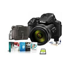 Nikon COOLPIX P900 Digital Camera, 83x Optical Zoom - Bundle with Camera Bag, 16GB Class 10 SDHC Card, Cleaning Kit, Software Package. Nikon COOLPIX P900 Digital Camera - AN-CP21 Strap - UC-E21 USB Cable - EN-EL23 Rechargeable Li-ion Battery - EH-71P AC Adapter/Charger - LC-67 Snap-On Lens Cap - Nikon 1 Year Warranty - Bundle Includes: - Camera Bag - 16GB Class 10 SDHC Card - Cleaning Kit - Pro Software Package (Includes Corel PaintShop Pro X9; Corel VideoStudio 9; Corel AfterShot 2 Pro;...