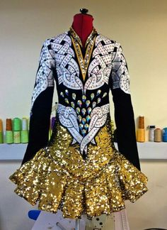 love the sequin skirt and embroidery (but not that it is white) (Celtic Star)