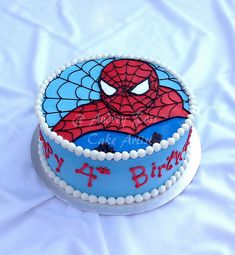 Spiderman Birthday Cake by The Cake Chic, via Flickr