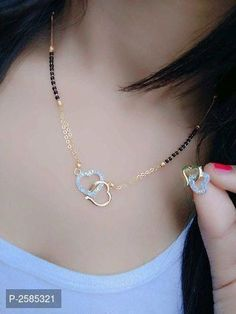 Fashion Necklace Diy Coin Ring Druzy Earrings Gold Plated Mangalsutra – clotheoo