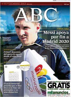 Los Titulares y Portadas de Noticias Destacadas Españolas del 4 de Septiembre de 2013 del Diario ABC ¿Que le pareció esta Portada de este Diario Español?
