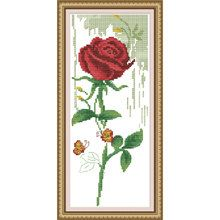 Cross Stitch Kit Red Rose in Bloom by CrossStitchKitsOnly on Etsy, $13.50