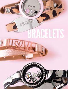 Origami Owl leather wrap bracelets! I have to have the zebra one! www.angierhoads.origamiowl.com