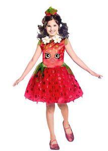 Shopkins Girls Halloween Costume STRAWBERRY KISS Tutu Dress Headband Small 4-6