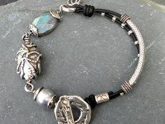 Gray Pearl Labradorite and Artisan Sterling Silver by TANGRA2009, $119.00
