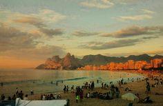Pôr do sol em Ipanema - Rio de Janeiro