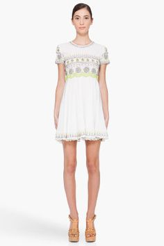 OPENING CEREMONY //    Embroidered Silk Dress