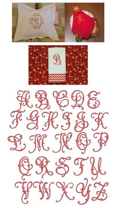 Flourish Fancy Monogram Alphabet Designs by JuJu