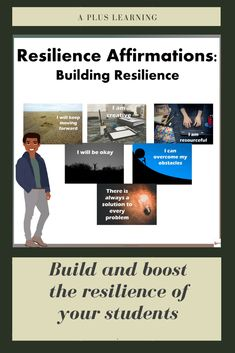 Resilience is our ability to bounce back from tough situations. When a person is ready to bounce back from a difficult situation, these affirmations could help them get their heads out of the clouds and make them feel better.These affirmations could re-focus your thoughts and be more positive. These are designed to create self-change. They could serve as an inspiration and reminders for everyday life. School Resources, Classroom Resources, Classroom Organization, Classroom Management, School Stuff, Back To School, I Will Be Okay, Teaching Posts, My Teacher
