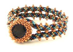 Beads East Naomi Kumihimo and Peyote Stitch Bead Bracelet Kit by Ann Benson Beads