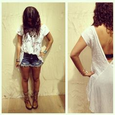 Dolphin Hem Denim Cut Off style pic on Free People