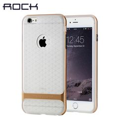 ROCK Royce Series Transparent cover for iPhone 6/6 plus case 4.7' 5.5 inch mobile phone case shell silicone protective sleeve