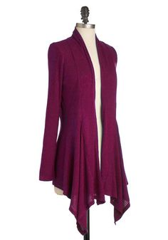Leaf It for Later Cardigan in Magenta, #ModCloth
