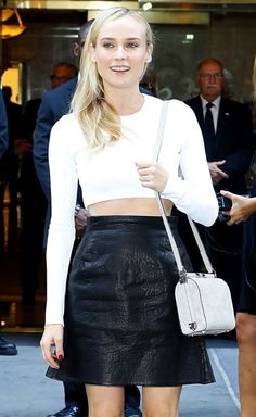 Diane Kruger Beauty In Black White Get The Look Diane