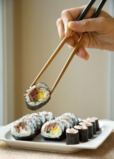 Fried spam, pineapple sushi - i'd replace spam with vegan baloney or bacun and maybe a teriyaki glaze / dip or peanut sauce! Fried Spam, Spam Recipes, Teriyaki Glaze, Hawaiian Recipes, Sushi Rolls, Peanut Sauce, Asian Foods, Spring Rolls, Sashimi