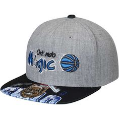 new styles e762f ee076 Men s Orlando Magic Shaquille O Neal Mitchell   Ness Gray Caricature Snapback  Adjustable Hat, Your Price   31.99
