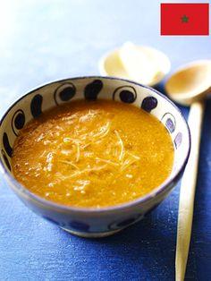 ラマダン明けのからだにやさしいモロッコではおなじみのスープ。家庭や屋台の数ほどレシピがあるといわれる。今回は肉を入れないレシピをご紹介 『ELLE a table』はおしゃれで簡単なレシピが満載!