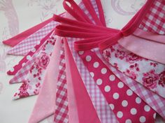 PRETTY PINKS Banner Bunting r