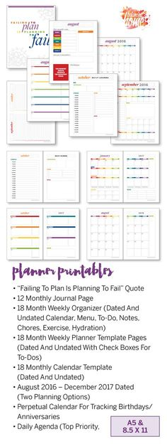 Printable Daily Planner, Daily Schedule, Agenda, Schedule Template