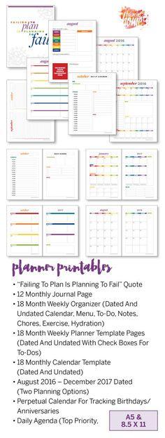 Personal Planner Inserts Dividers Freebie Pdf Printable  Diy