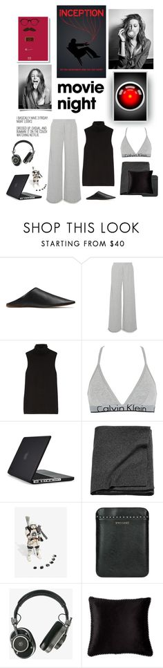 """Netflexing"" by iriadna ❤ liked on Polyvore featuring Acne Studios, T By Alexander Wang, The Row, Calvin Klein Underwear, Speck, Twin-Set, Master & Dynamic, BIVAIN, Garcia and blackandwhite"