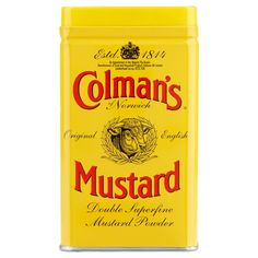 Per un sapore eccezionale... --- For a taste sensation...  #senape #colmans #norwich #english #cibo   -->http://www.richmonds.it/item/colmans-senape-in-polvere-113g.html