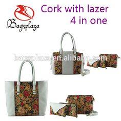 Alibaba china handbags set purses 4 in one cork bag clutch bag wallet sunglasses bag