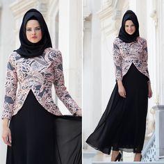 NAYLA COLLECTION - EVENING DRESS - 4047P #hijab #naylavip #hijabi #hijabfashion #hijabstyle #hijabpress #muslimabaya #islamiccoat #scarf #fashion #turkishdress #clothing #eveningdresses #dailydresses #tunic #vest #skirt #hijabtrends