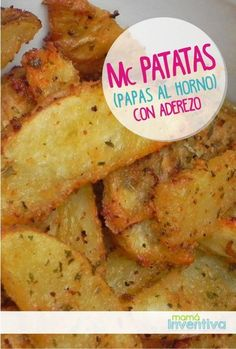 Receta facil con Papas al horno sazonadas Veg Recipes, Potato Recipes, Cooking Recipes, Healthy Recipes, Yum Yum Chicken, Baked Potatoes, Naha, Healthy Snacks, Food Porn