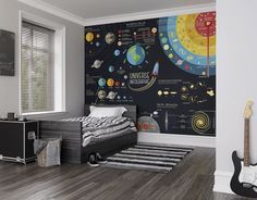 Scientific Universe Photo Wallpaper Fototapete, Kinderzimmer Zimmerdekoration – - Decoration For Home Science Bedroom, Science Room Decor, Science Decorations, Kids Wall Murals, Childrens Wall Murals, Kids Room Design, Wall Design, Room Decor Bedroom, Boys Space Bedroom