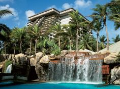 Waterfall Pools at the World's Best Hotels Fairmont Acapulco Princess Acapulco, Mexico