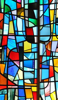 Modernist stained glass window. | St. Andrews Church, Sheringham, England… | Flickr - Photo Sharing!
