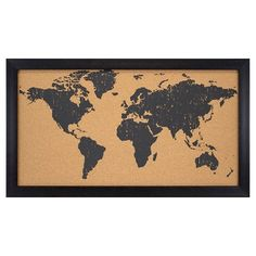 World map travel cork board personalised with name or quote world map cork board use pins to document our adventures travel wanderlust gumiabroncs Image collections