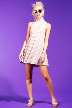 Skinny Stripes Multi Shift Dress