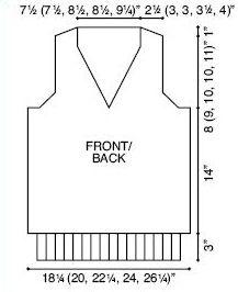 V-Neck Man's Vest Knitting Pattern   FaveCrafts.com