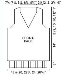 V-Neck Man's Vest Knitting Pattern | FaveCrafts.com