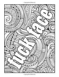 Quote Coloring Pages Free Adult Books Swear Word Book