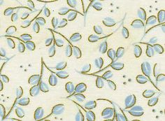 Red Rooster Fabric Akahana Petals on Light Blue Quilting Sewing Crafting Cotton