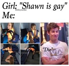 I would LITERALLY do this to the annoying boys in my class when they say Shawn is gay one more time...